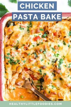 Pasta, chicken and veggies (onion, spinach, bell pepper, peas)baked in a creamy tomato sauce and topped with cheese. A delicious and easy family meal that is guaranteed to be time and time again. Baby Food Recipes, Dinner Recipes, Toddler Recipes, Toddler Food, Toddler Meals, Turkey Recipes, Pasta Recipes, Dinner Ideas, Chicken Recipes