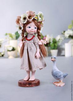 Купить Наденька - девочка, кукла, коллекционная кукла, подарок, Декор, веночек, цветы, детство, сказка