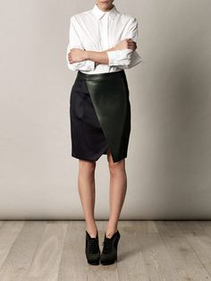 Sportmax leatherTappeto skirt $904