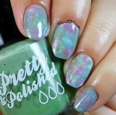 Pastel watercolor nails or seriotype nail art with Pretty and Polished Dusty Cremes. Water Color Nails, Pastel Watercolor, Nail Patterns, Beauty Tutorials, My Nails, Swatch, Manicure, Polish, Nail Art
