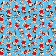 Tecido Patchwork Fabricart Turma Mônica Azul 9717  Armarinho SãoJosé #artesanato #costuracriativa Wallpaper, Pop Culture, Mickey Mouse, Alice, Snoopy, Animation, Scrapbook, Cartoon, Pattern