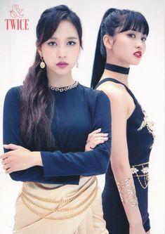 Momo and Mina for &Twice Postcards Nayeon, Kpop Girl Groups, Korean Girl Groups, Kpop Girls, Twice Wallpaper, Sana Momo, Twice Kpop, Myoui Mina, Tzuyu Twice