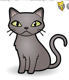 Grey cat Cute Cat Face, Grey Cats, Cat Drawing, Cool Cats, Drawings, Fictional Characters, Black, Gatos, Decorated Notebooks