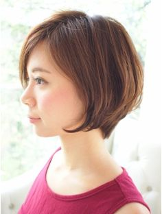 マーベル MABEL 美シルエットショート Medium Hair Cuts, Short Hair Cuts, Medium Hair Styles, Short Hair Styles, Bob Hairstyles For Fine Hair, My Hairstyle, Girl Hairstyles, Hair Arrange, Asian Hair