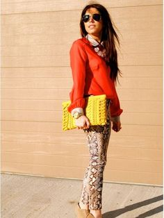 StyledOn's The Style Mogul (@Christina Childress-Nicole C.) is on trend in our community this week with her colorful clutch, like her yellow one worn here!