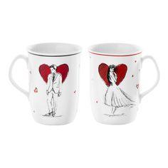 Kubki Egon to wyjątkowa propozycja, stworzona specjalnie z myślą o dniu zakochanych. Śnieżnobiała porcelana została ozdobiona dwoma rysunkowymi dekoracjami- dla Niej i dla Niego.  #pfp #pfp_cmielow_chodziez #cmielow #ćmielów #chodzież  #porcelanacmielow #porcelanachodziez #rekodzielo #love #walentynki #inspiration #inspiracje #gift