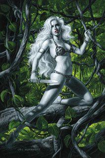 Sheena - Black Board - SOLD, in Jean Scrocco's Greg Hildebrandt - Commissions Comic Art Gallery Room