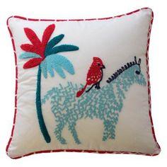 Reverie Zebra Decorative Pillow by Waverly - 16441015X015PNK
