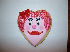 Valentine Cookie Large Girl Heart