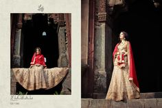 FLORAL ( Majesty) GS - 7380   As the sun sets, your magic rises. The colours of your Lehenga are in stark contrast to the darkness that tries to envelop the world. And much to its dismay, the darkness discovers that all its efforts are to no avail. Your Lehenga is the night, it is the brightness that we all seek and the glow we all find happiness in. You are the love that...... Bling Wedding, Brown Girl, Queen, Lehenga, Colours, Princess, Bridal, Elegant, Floral
