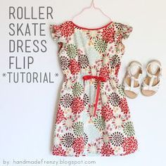 Handmade Frenzy: Roller Skate Dress Flip - TUTORIAL