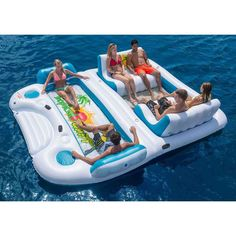 Tropical Tahiti Floating Island, Inflatable Pool Float #SunPleasure