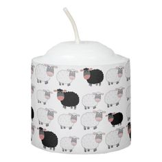 Sheep Pattern Votive Candle