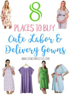 Did you know you don& have to wear the gross hospital gown when you deliver your baby? Here are 8 places to buy cute labor and delivery gowns so you can look and feel your best during childbirth! Trimesters Of Pregnancy, Pregnancy Tips, Birthing Gown, Baby Gender Prediction, Delivery Gown, Baby Delivery, Baby Kicking, After Baby, Pregnant Mom