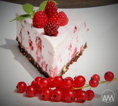 Nepečený malinovo - tvarohový dort