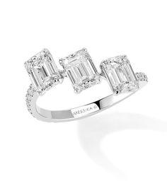Messika bague diamants taille baguette