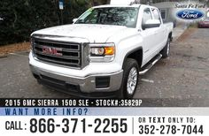 2015 GMC Sierra 1500 SLE - Z71 Package - Crew Cab Pickup Truck - V8 5.3L - Alloy Wheels - Tinted Windows - Running Boards - Hitch Receiver - Tow Hooks - Bed Liner - Safety Airbags - Powered Windows/Locks/Mirrors - Seats 6 - AM/FM/CD/XM - iPod/Aux/USB Ports - Bluetooth - Backup Camera - Cruise Control - Remote Keyless Entry - Touch Screen - Digital Compass - Navigation - Outside Temperature Display - OnStar and more!