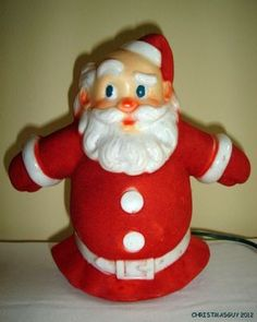 Vintage Santa Collectible ~ Glolite Santa-Glo Lighted Christmas Tree Topper
