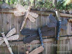 DIY Decorative Wooden Garden Dragonflies