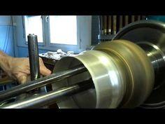 Metalldrücken ( Metal Spinning of aTeapot) eines Teekannen-Korpus in Silber 0925 Schritt1 - YouTube
