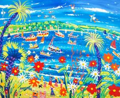 Messing about on the River, Falmouth. By British Artist John Dyer. John Dyer, Falmouth, Ocean Beach, Fireworks, Original Paintings, River, The Originals, Cornwall, Art Pictures