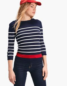 Striped fitted sweater - Knitwear | Stradivarius Romania