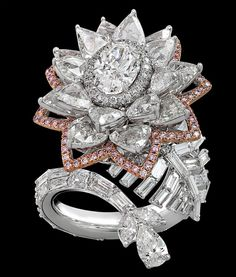 Nirav Modi Lotus Diamond Ring