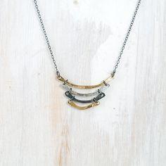 14k Gold and Silver 19 Necklace Mixed Metal par failjewelry sur Etsy
