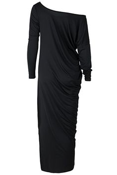 e0f581b51a8 One Shoulder Ruffled Slit Maxi Dress novashe.com Maxi Dress With Slit