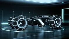 """TRON: Legacy Light Runner in the """"off roading"""" position"""
