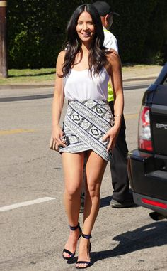 Hair colour ideas for brunettes – My hair and beauty Olivia Munn, Sexy Dresses, Short Dresses, Beautiful Legs, Beautiful Celebrities, Latest Fashion For Women, Sexy Legs, Celebrity Style, Mini Skirts