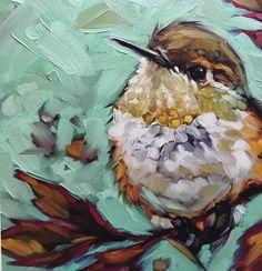 Print of original oil painting of Hummingbird by Bird Painting Acrylic, Watercolor Paintings, Abstract Paintings, Art Paintings, Painting Art, Landscape Paintings, Animal Paintings, Indian Paintings, Hummingbird Art