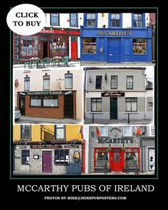 Family Name Pub Posters Mc Carthy, Poster Prints, Posters, Prints For Sale, Fathers Day Gifts, Ireland, Family Room, Fuji Film, Names