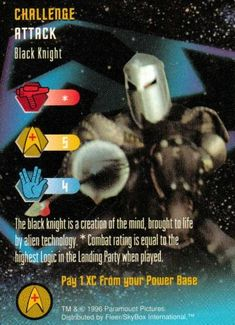 Black Knight Card Star Trek The Original Series Collectible Card Game (CCG) Uncommon Challenge Card @ niftywarehouse.com #NiftyWarehouse #StarTrek #Trekkie #Geek #Nerd #Products