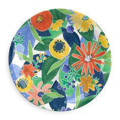 Midsummer Floral Collection 12 Piece Melamine Dinnerware Set by TarHong Dinner Plate Sets, Dinner Plates, Melamine Dinnerware Sets, Tableware, Hawaiian Party Decorations, Butler, Crafts To Make, Decor Styles, Dekoration