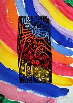 Artsonia Art Museum ::Laurel Burch Cat Prints