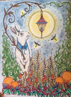 """""""Bunny and Bright"""" Adult Coloring Dagdrommar Hanna Karlzon"""