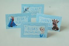 Free Frozen Party Printables - Food Labels these came out super cute my husband was able to save the file as a PDF so I could type in my own food titles. Frozen Party Food, Frozen Themed Birthday Party, Disney Frozen Party, 6th Birthday Parties, Birthday Ideas, 4th Birthday, Birthday Nails, Birthday Crafts, Birthday Decorations