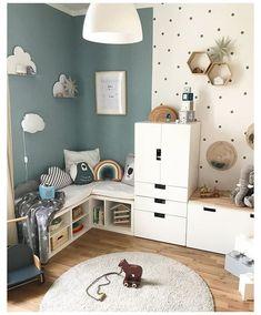 Cool Kids Rooms, Kids Room Paint, Creative Kids Rooms, Clever Kids, Home Decor Bedroom, Diy Home Decor, Bedroom Kids, Bedroom Wall, Baby Bedroom
