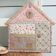 zakka pocket house with embroidered detail