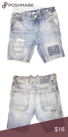 GAP distressed Jean shorts Lightly worn with love. Distressed, light blue cut off Jean shorts. GAP Bottoms Shorts