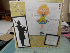 a card made for an Irish dancer who is also a pipe player