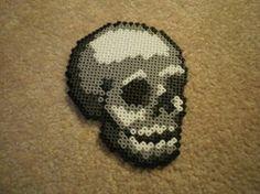 Skull perler bead