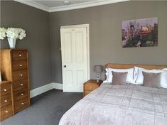 An inspirational image from Farrow and Ball Bedroom painted in Charleston Gray