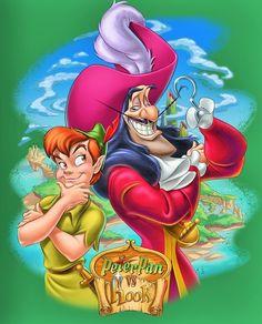 *PETER & CAPTAIN HOOK ~ Peter Pan,