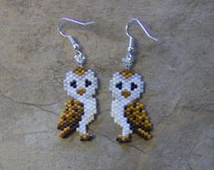 Broken Feather Earrings Hand Made Seed Beaded Native by wolflady