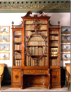 Wilton House.  In the room is this  world famous bookcase by Chippendale.