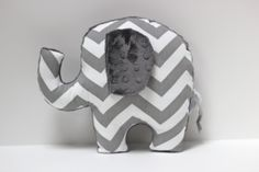 Chevron Elephant nursery pillow