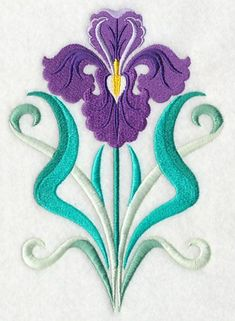 This free embroidery design from Embroidery Library is called Art Deco Iris.