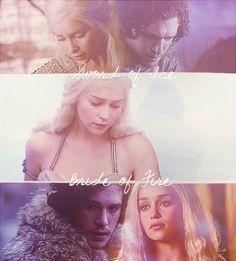 Fan Art of Ice and Fire/ Jon and Dany for fans of Jon & Daenerys.
